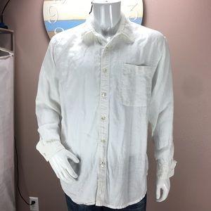 0618c5b6ac Indigo palms Shirts - Indigo Palms Mens Size XL Shirt Linen White